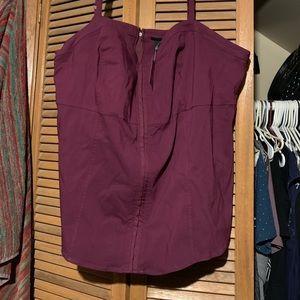 Purple Bengaline Corset Cami